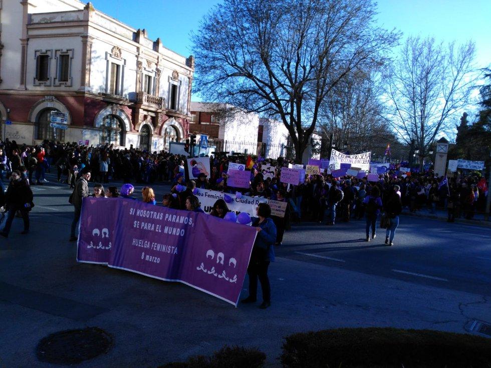 La manifestación feminista en imágenes