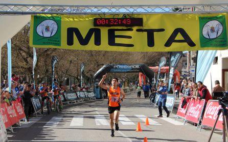 Francisco Alonso, ganador de la carrera murallas Cuellar 2019 batiendo el record de 2018