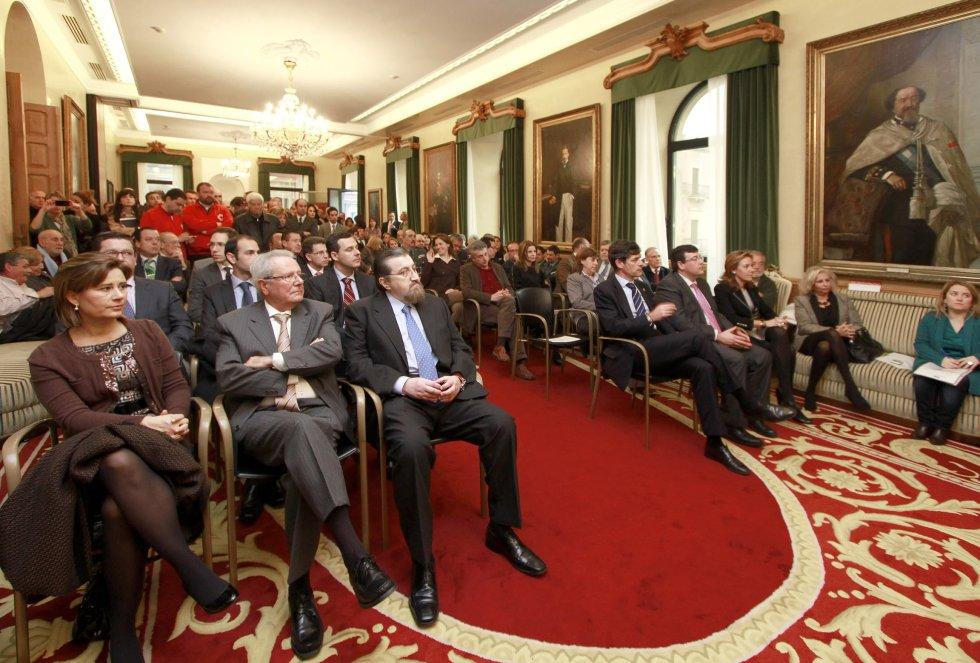 Salón de Recepciones del Ayuntamiento durante la entrega del Premio (2012)