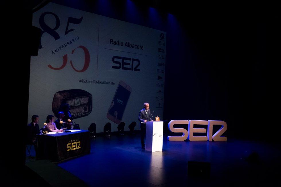 Lucio Gómez, presidente de ASPRONA, en su discurso por el Reconocimiento Social