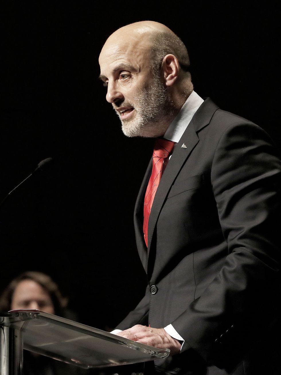 El presidente del RGCC, Antonio Corripio, durante su discurso