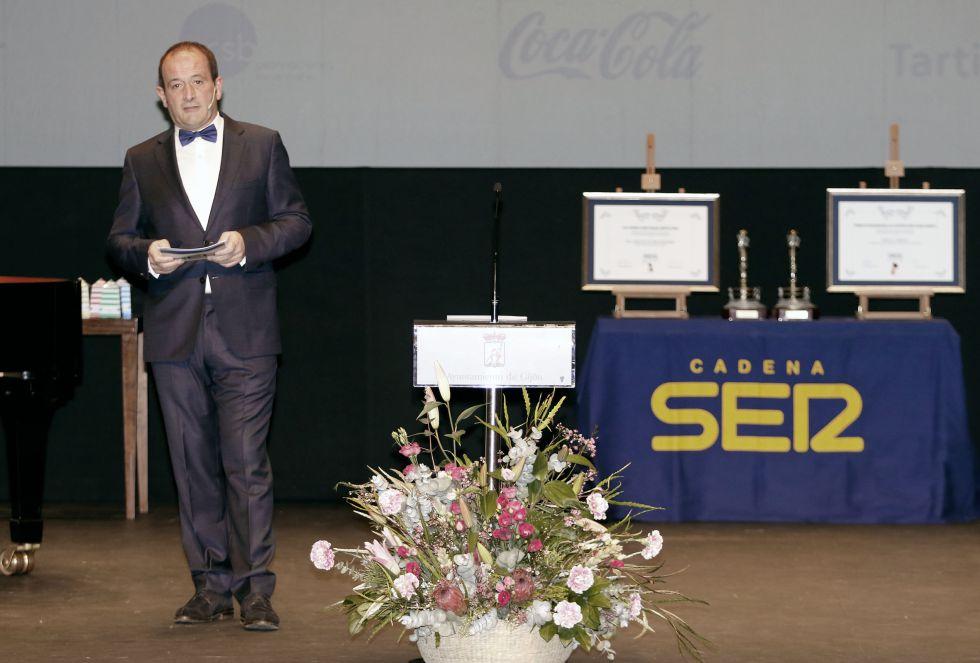 Nacho Poncela, maestro de ceremonias del XXV Premio Gijón Ciudad Abierta
