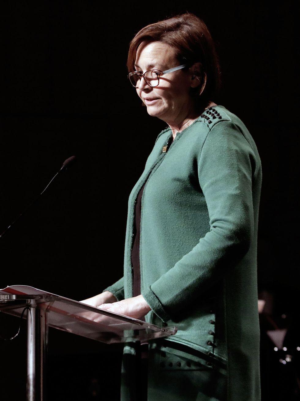 La alcaldesa de Gijón, Carmen Moriyón, durante su discurso