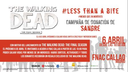 La campaña de donación de sangre con The Walking Dead The Final Season