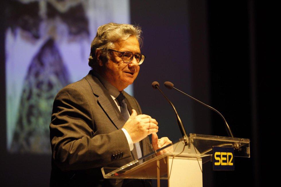 Otro detalle de la intervención de Antonio Yélamo, director de Radio Sevilla