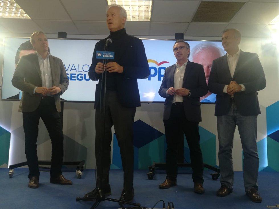 Intervención de Eloy Suárez en la sede del PP