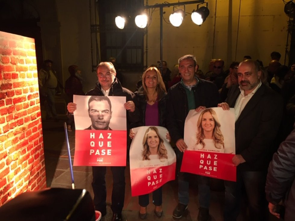 Inicio de la campaña electoral del PSOE