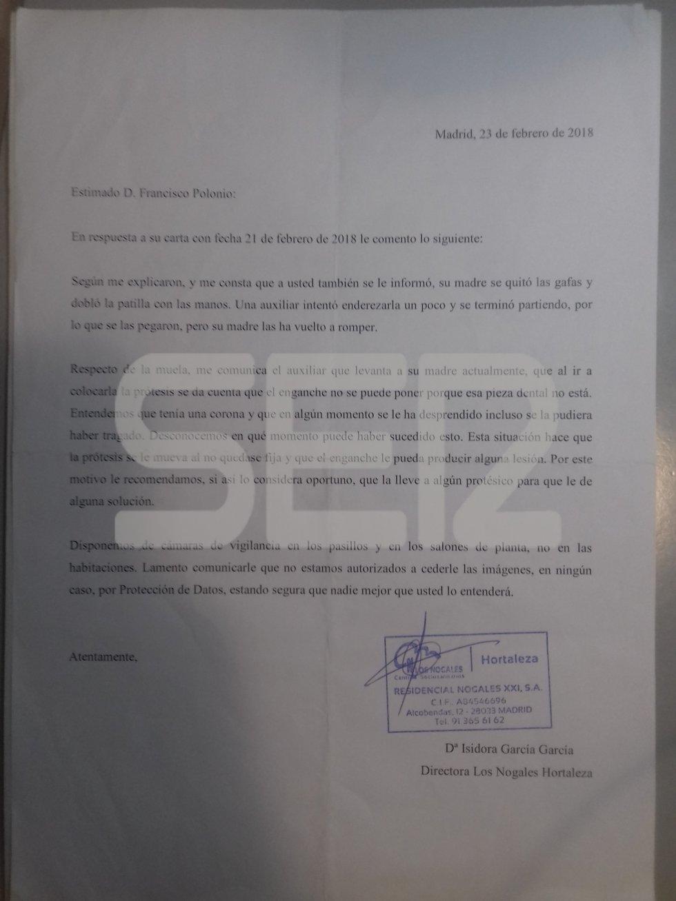 Los documentos demuestran denuncias por malos tratos en la residencia madrileña.
