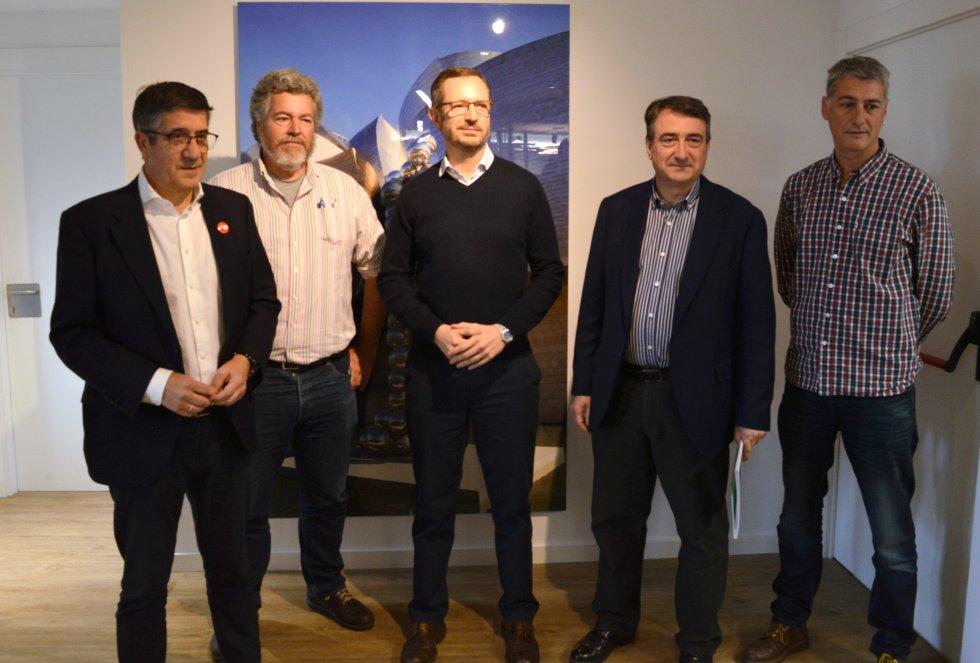 Los candidatos López, López de Uralde, Maroto, Esteban y Matute