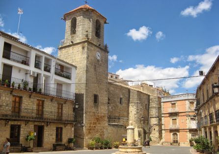 Plaza Mayor de Chiclana de Segura.