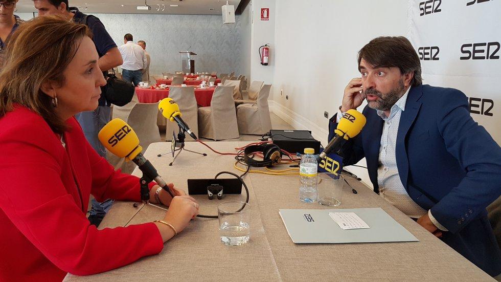 Corredera durante la entrevista concedida a nuestro compañero José Luís Gacía para la Cadena SER