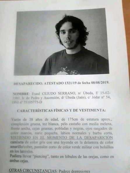 A Vecino Policía Úbeda La Un Desaparecido Busca Desde De Ayer c5ARL3j4q