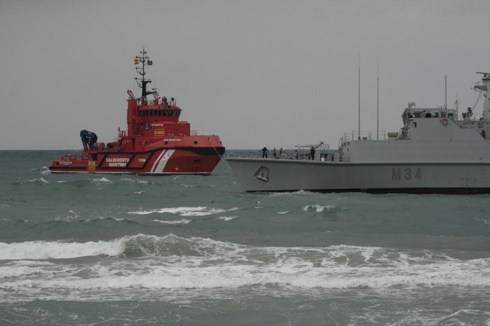 El accidente del cazaminas Turia en imágenes La Manga del Mar Menor accidente Francisco Marín: El accidente del cazaminas en imágenes