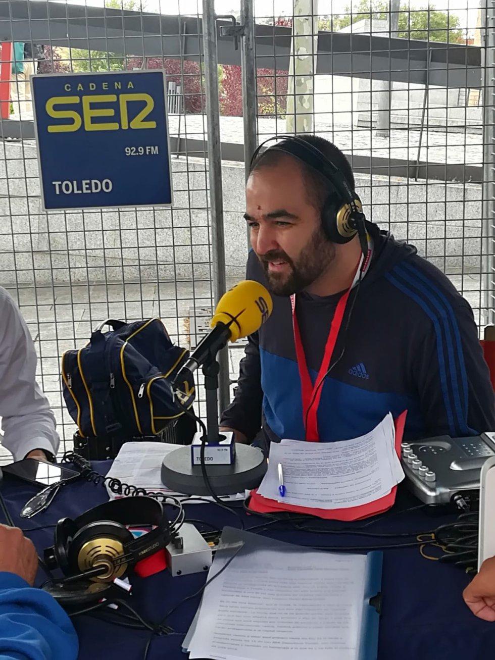 Ruben Delgado, presentador de SER Deportivos Toledo