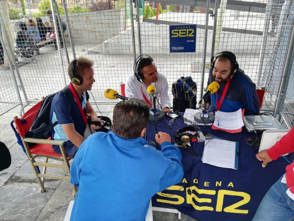 Delgado con Torres, Díaz-Justo y Borja Cuadrado