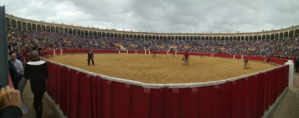Las imágenes de la corrida de rejones
