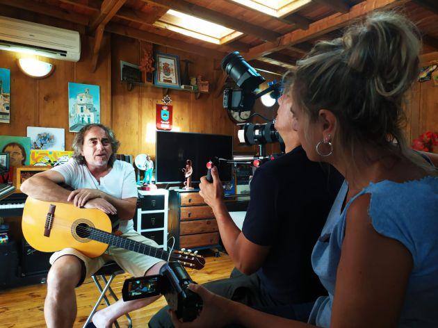 Escena del rodaje del documental 'El que la lleva, la entiende'
