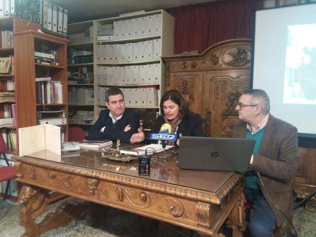 Momento de la intervención de la alcaldesa, M.ª Teresa García