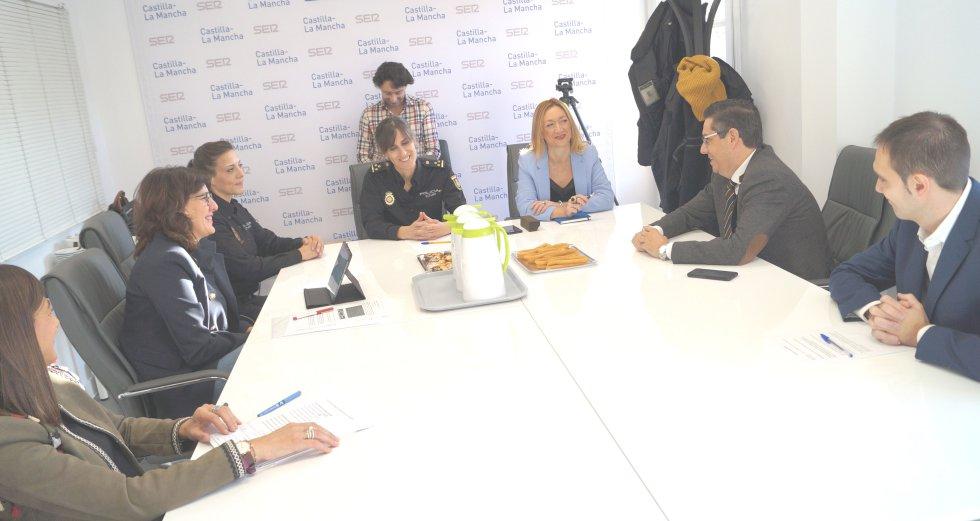 Pilar Callado, Blanca Fernández, Marga Cerro y Cristina Ramos en el primer Desayuno de SER Toledo