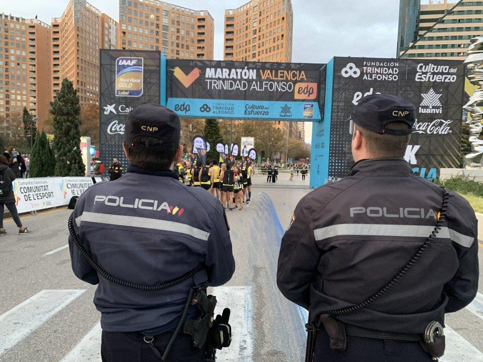 El Ayuntamiento de València y la Delegación del Gobierno en la Comunitat han desplegado un amplio dispositivo de seguridad para garantizar el orden durante la competición