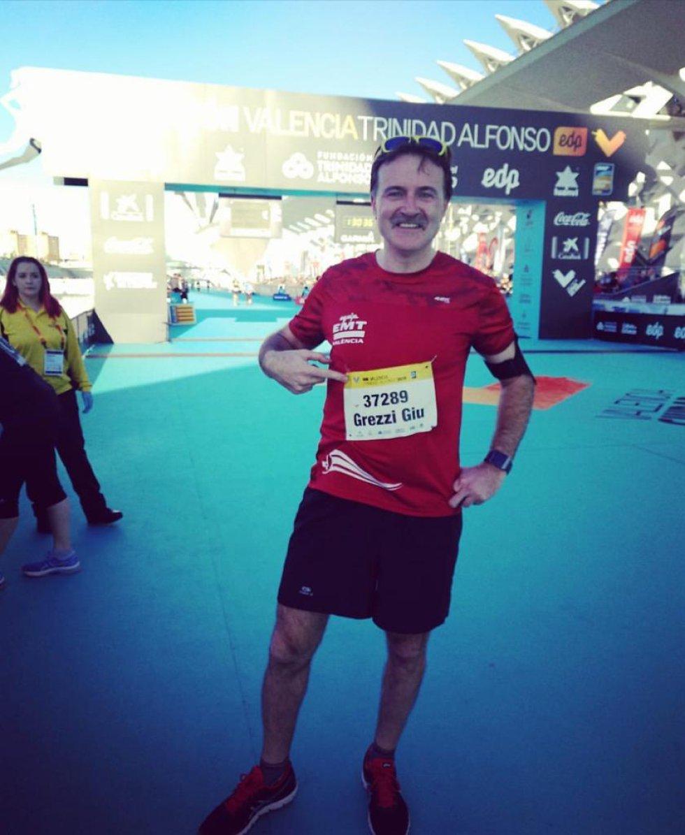El concejal de Movilidad de València, Giuseppe Grezzi, ha participado en la carrera 10K de la ciudad, la última que se ha celebrado