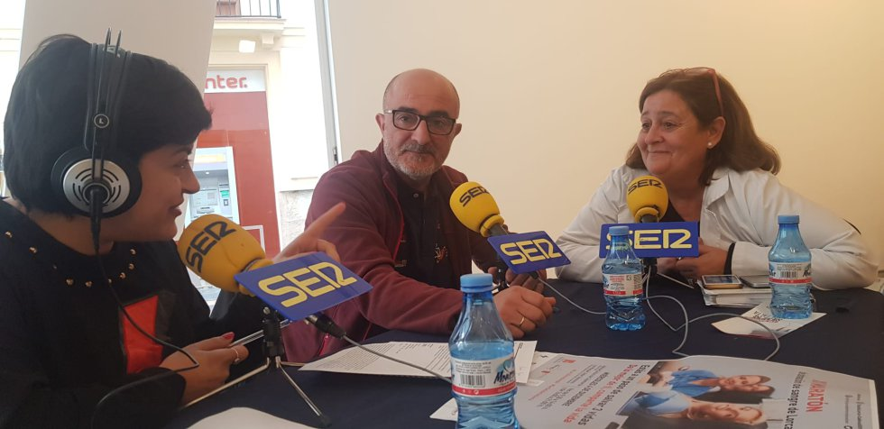 Josefina Meca junto a Mateo Ruíz Jódar y Toñi Gómez