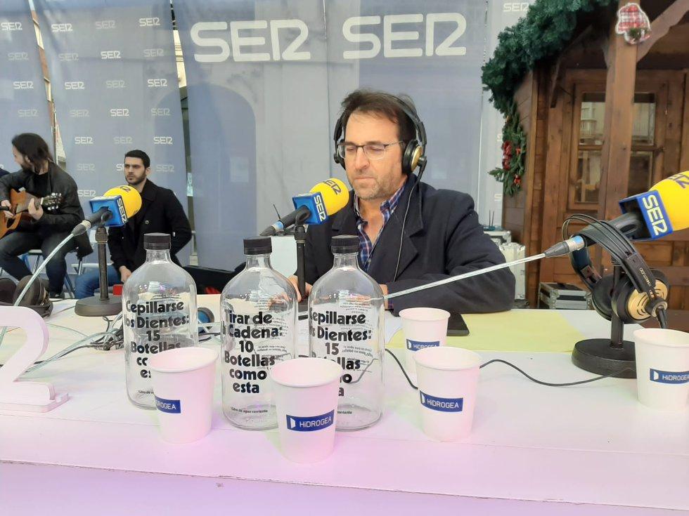 Miguel Meroño, presentador del programa especial 'Hoy por Hoy Región de Murcia'.
