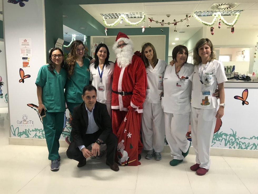Equipo de profesionales de Pediatría del hospital de Gandia