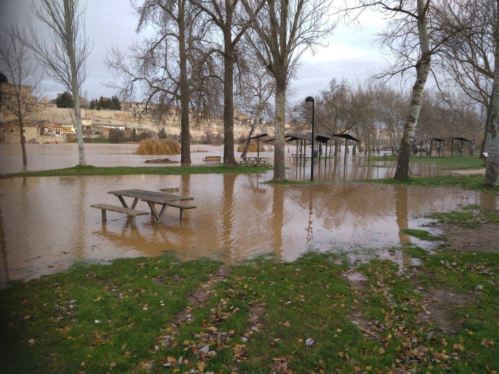 Inundación en la zona de Los Pelambres