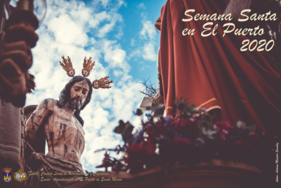 En El Puerto de Santa María, la imagen titular de la Hermandad de la Flagelación es el protagonista, en una fotografía horizontal, obra de Antonio Montero Sánchez.