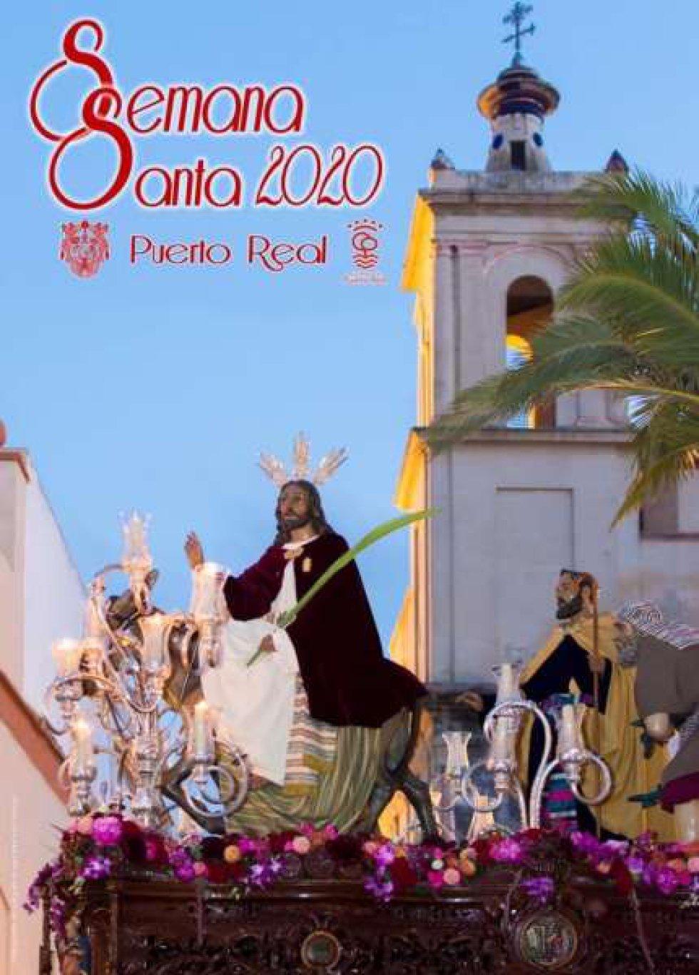 El cartel anunciador de la Semana Santa de Puerto Real es una fotografía que muestra la salida extraordinaria del 75 aniversario de la Hermandad de la Boriquita. Es una obra del isleño Miguel Ángel Muñoz Crespo.
