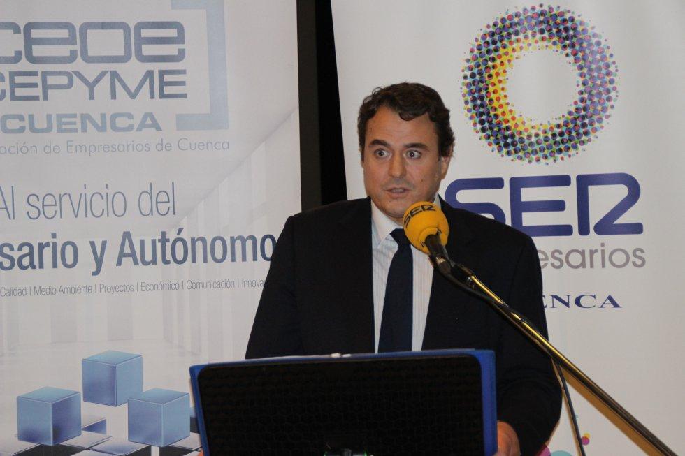 David Peña, presidente de CEOE CEPYME Cuenca, que patrocina SER Empresarios
