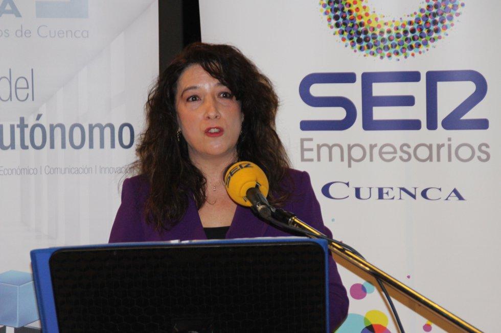 Aurora Duque, directora de SER Cuenca, agradeció su fidelidad a los empresarios