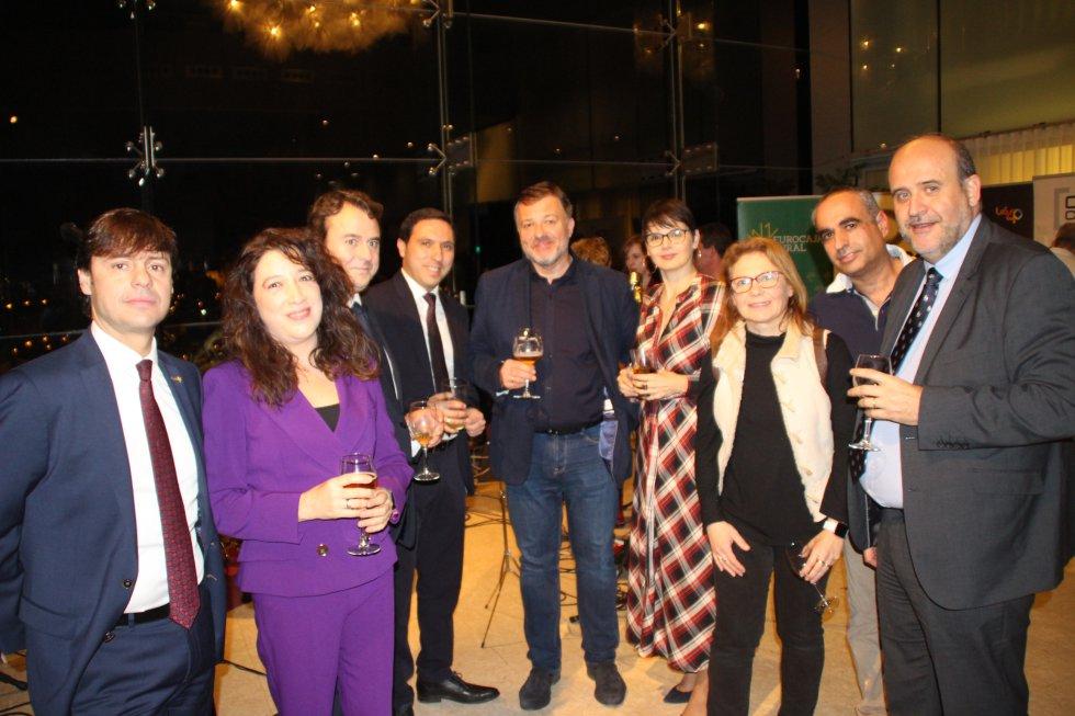 El vicepresidente de la Junta; el presidente de Diputación, Álvaro Martínez Chana; y el alcalde, Darío Dolz, asistieron a la fiesta donde cambiaron impresiones con los empresarios conquenses
