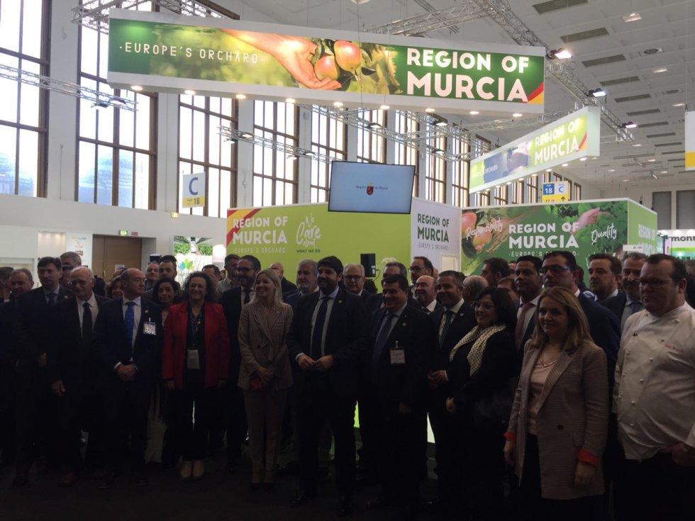 La Región de Murcia contó con un stand propio en Fruit Logística