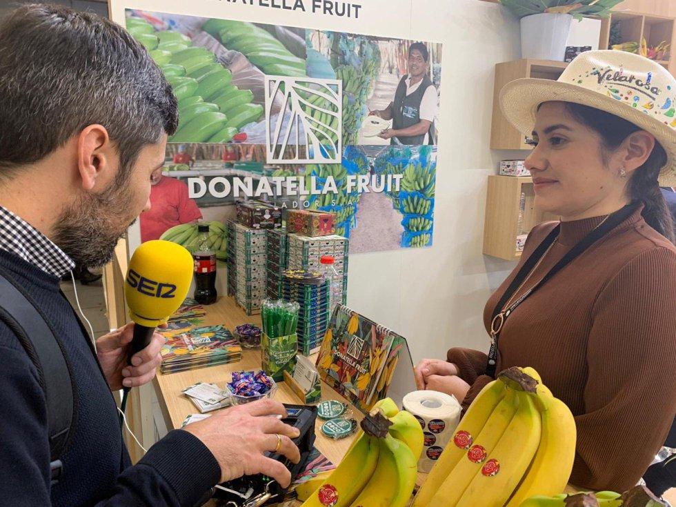 Ecuador, como país invitado, trabajo gran representación de sus frutos tropicales: bananas, aguacates, pitahayas...