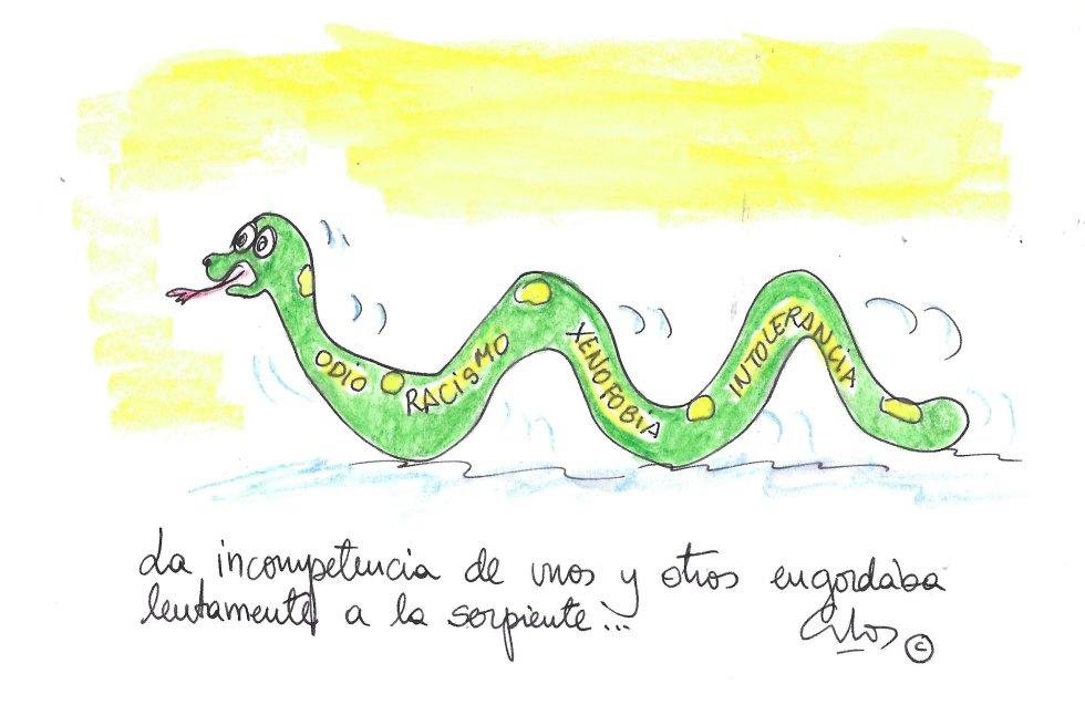 """La viñeta de Villanueva, """"serpiente"""""""