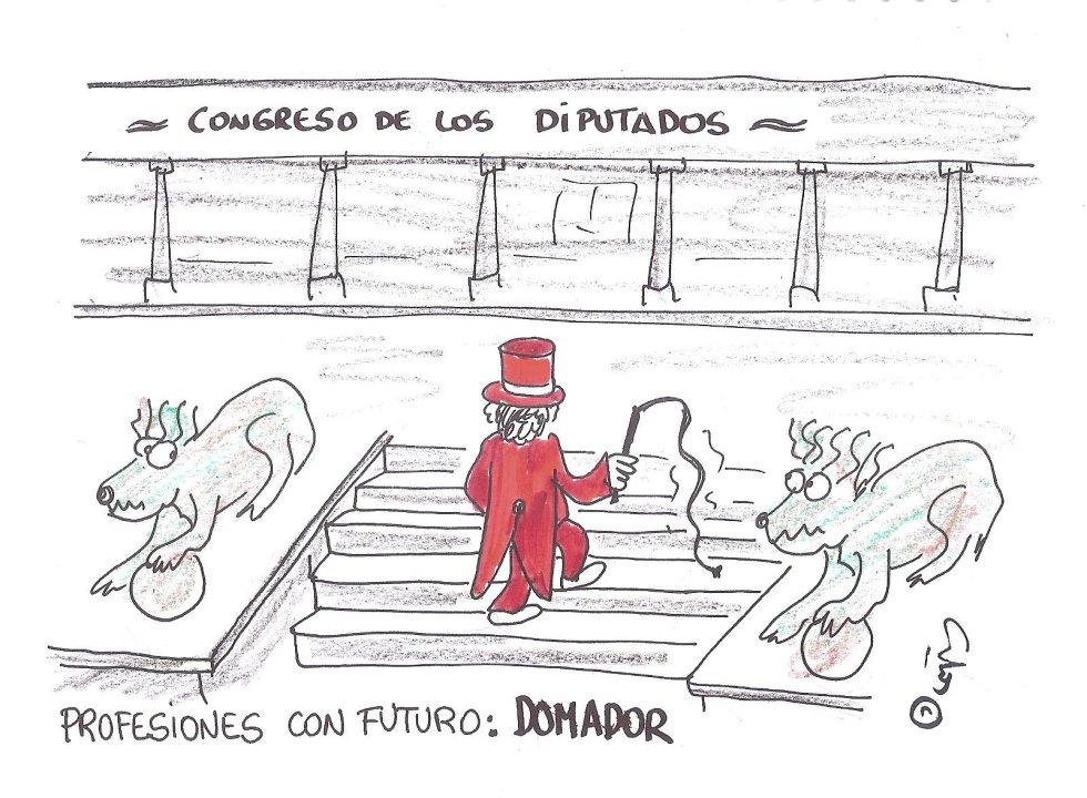 """La viñeta de Villanueva, """"Domador"""""""