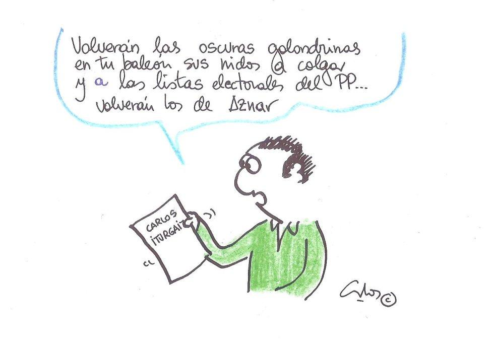 """la viñeta de Villanueva y el regreso de """"las golondrinas"""""""