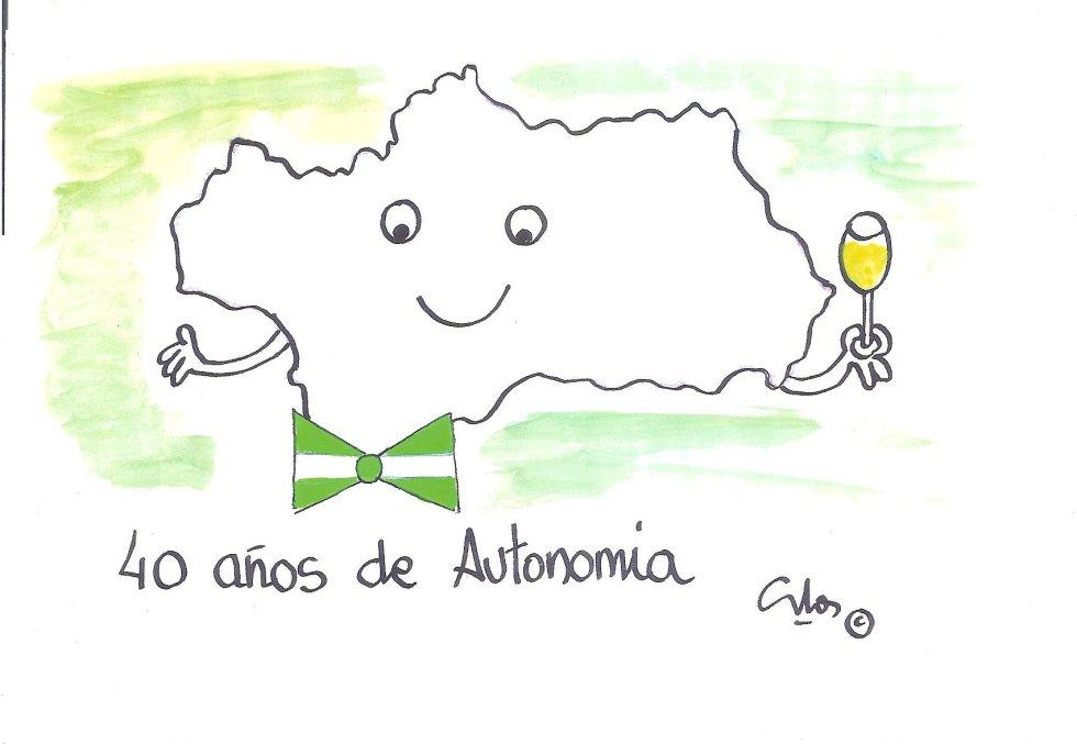 """La Viñeta de Villanueva,""""Feliz Día de Andalucía"""""""