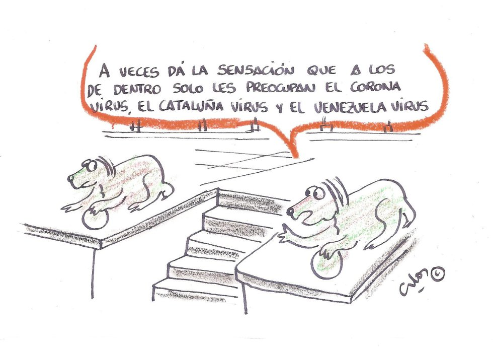 "La viñeta de Villanueva, ""El virus político"""