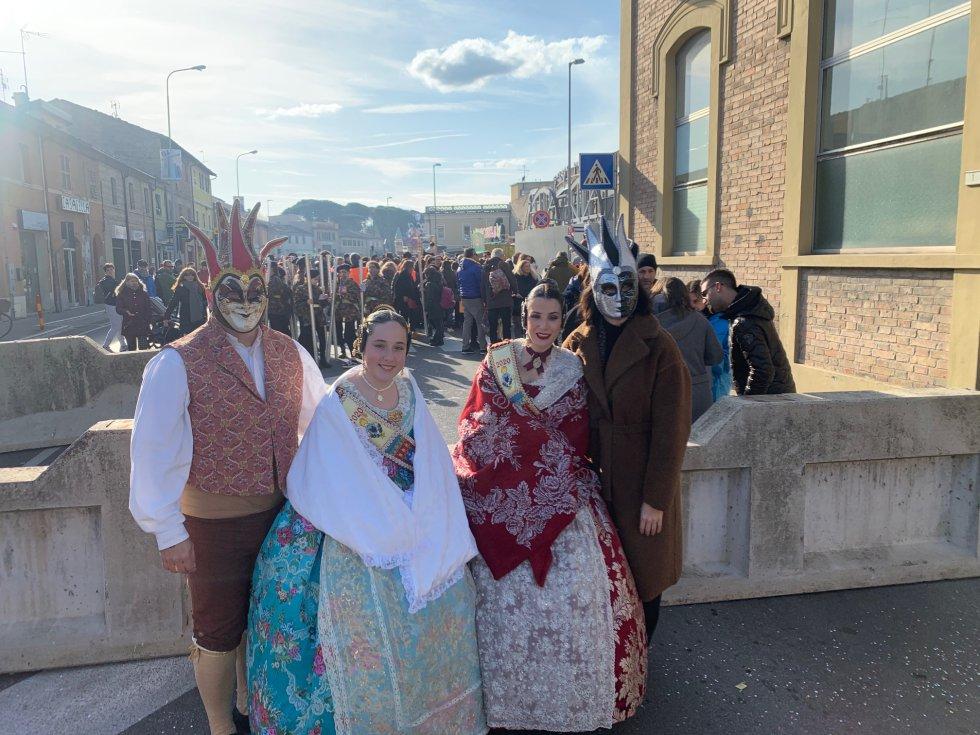 Uno de los momentos vividos en el desfile del carnaval de Fano