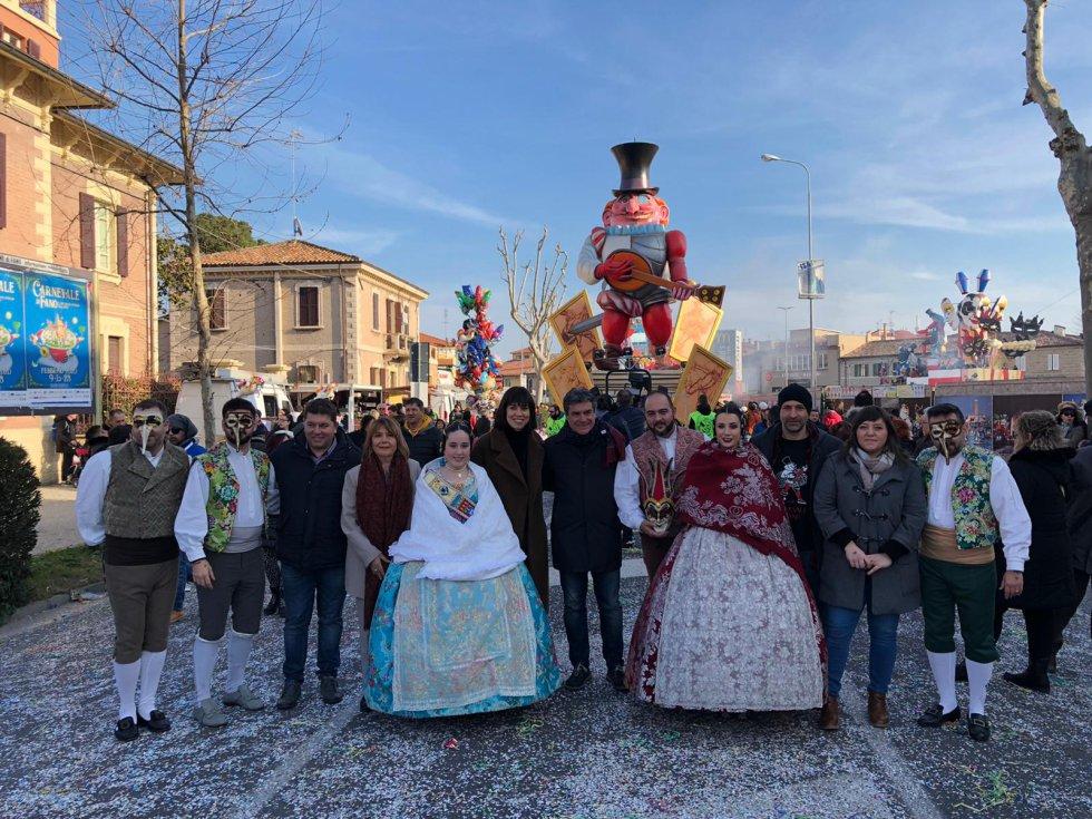 Las festividades de los Carnavales de Fano y las Fallas de Gandia también se han hermanado