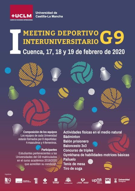 Cartel del meeting deportivo.