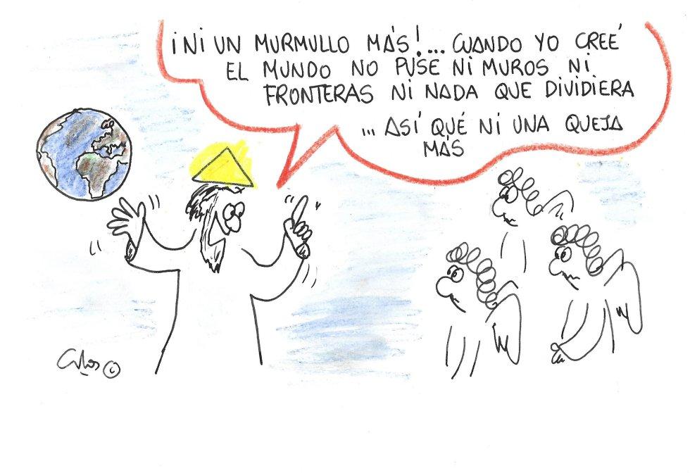 La viñeta de Villanueva, Fronteras.