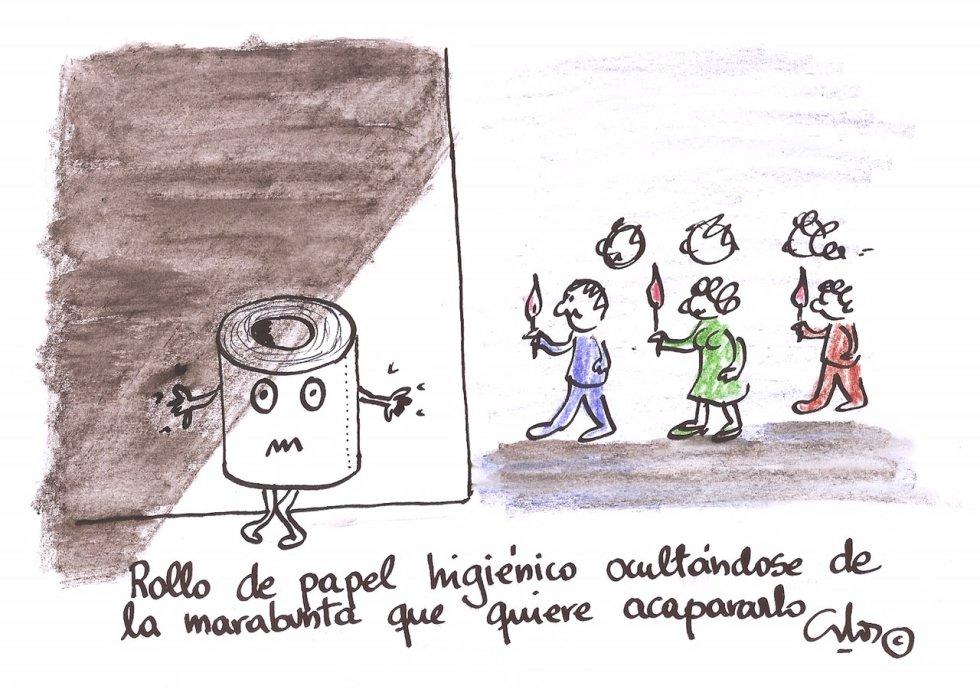 La viñeta de Villanueva, el papel higiénico.