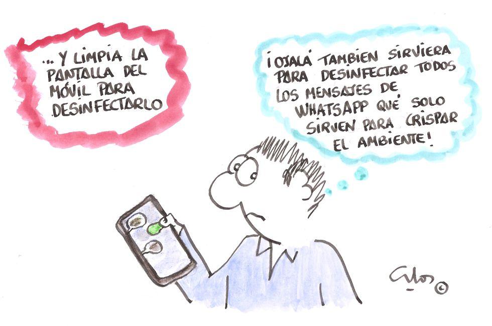 La viñeta de Villanueva, desinfección de mensajes.