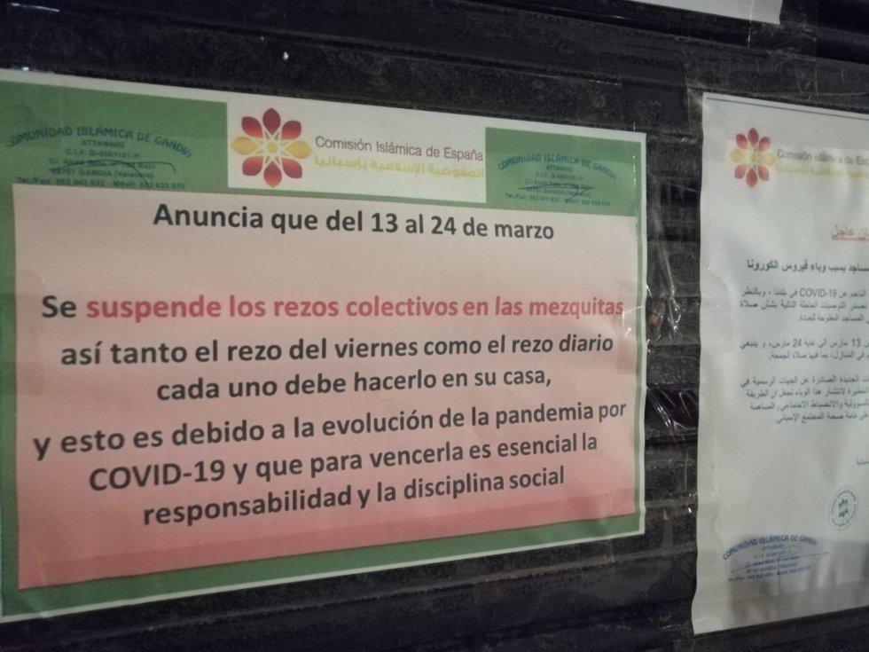 Algunos templos de culto religioso se suman a la lucha contra el coronavirus y suspenden los rezos para evitar aglomeraciones de gente