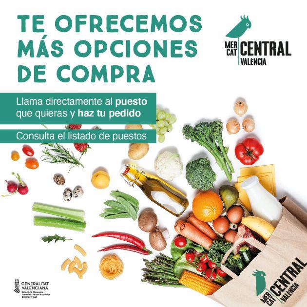 El Mercat Central de València refuerza su servicio de entrega a domicilio