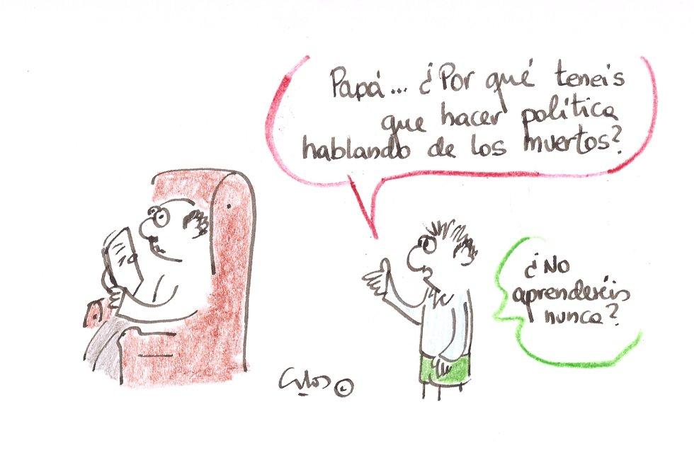 La viñeta de Villanueva, política y muertos.